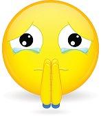 Emoticon begging for forgiveness. Sorry emoticon.Oh please emoticon.