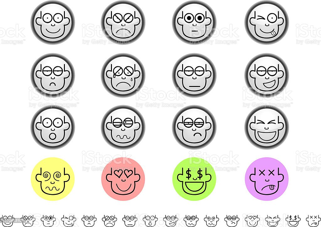 emoticon buttons royalty-free stock vector art