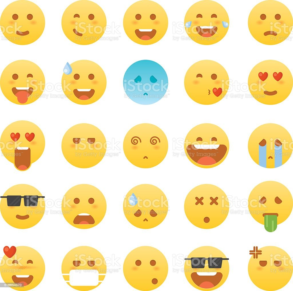 Emoticon set. Emoticon vector illustration vector art illustration
