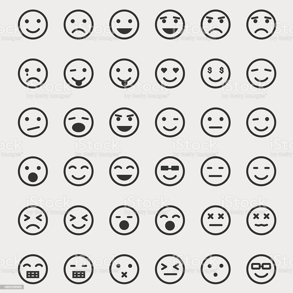 Emoticon Set vector art illustration