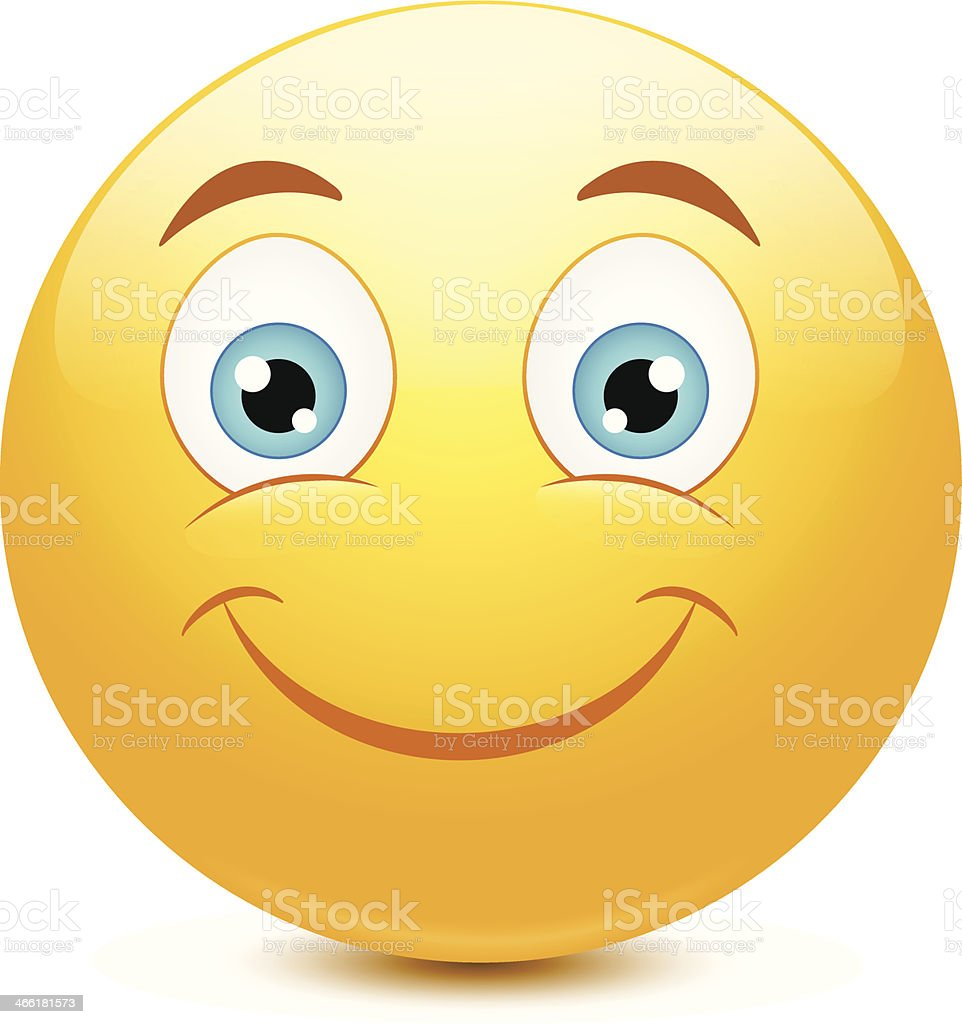 Emoticon with big toothy smile vector art illustration