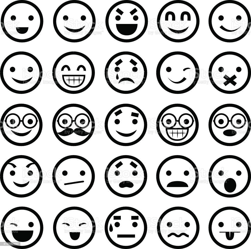 Emoticons - Illustration vector art illustration