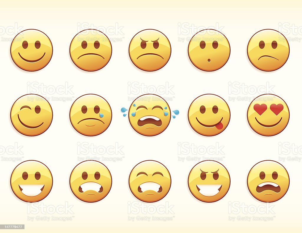 Emoticons vector art illustration