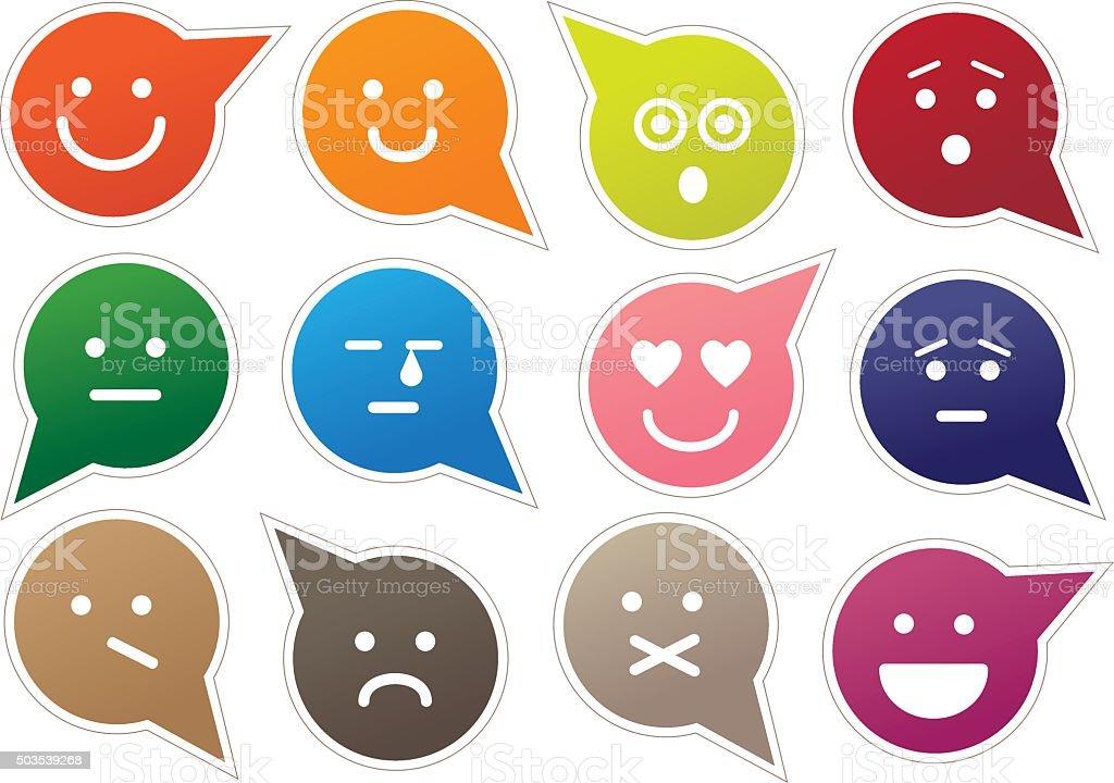 Emoticons vector art illustration