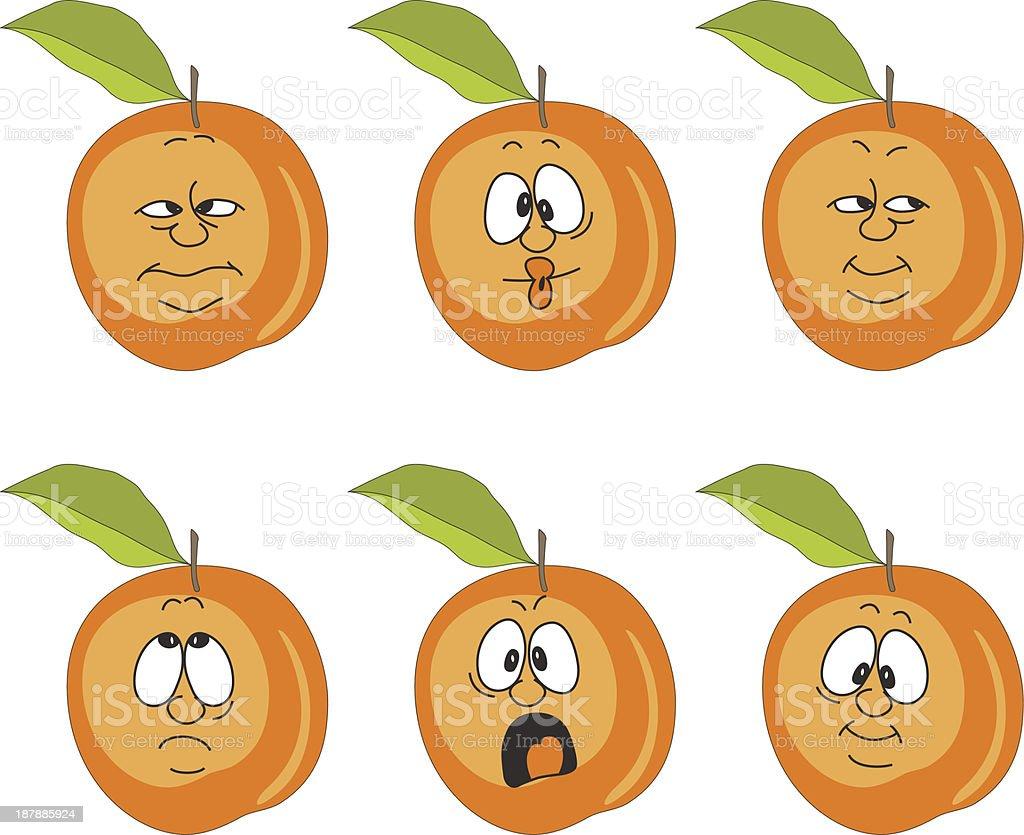 Emotion cartoon peach set 007 royalty-free stock vector art