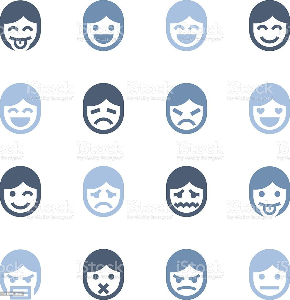 emotion icons vector art illustration