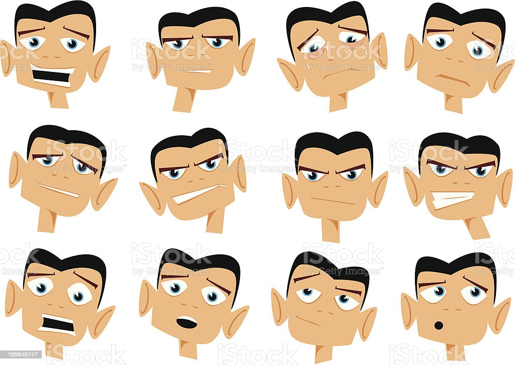 Emotions Collection Cartoon royalty-free stock vector art