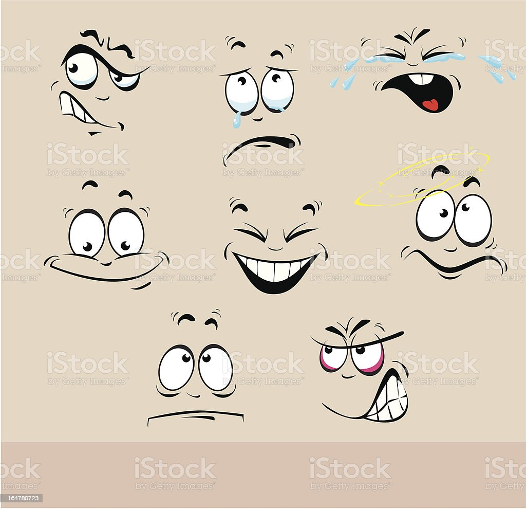 emotions faces set royalty-free stock vector art