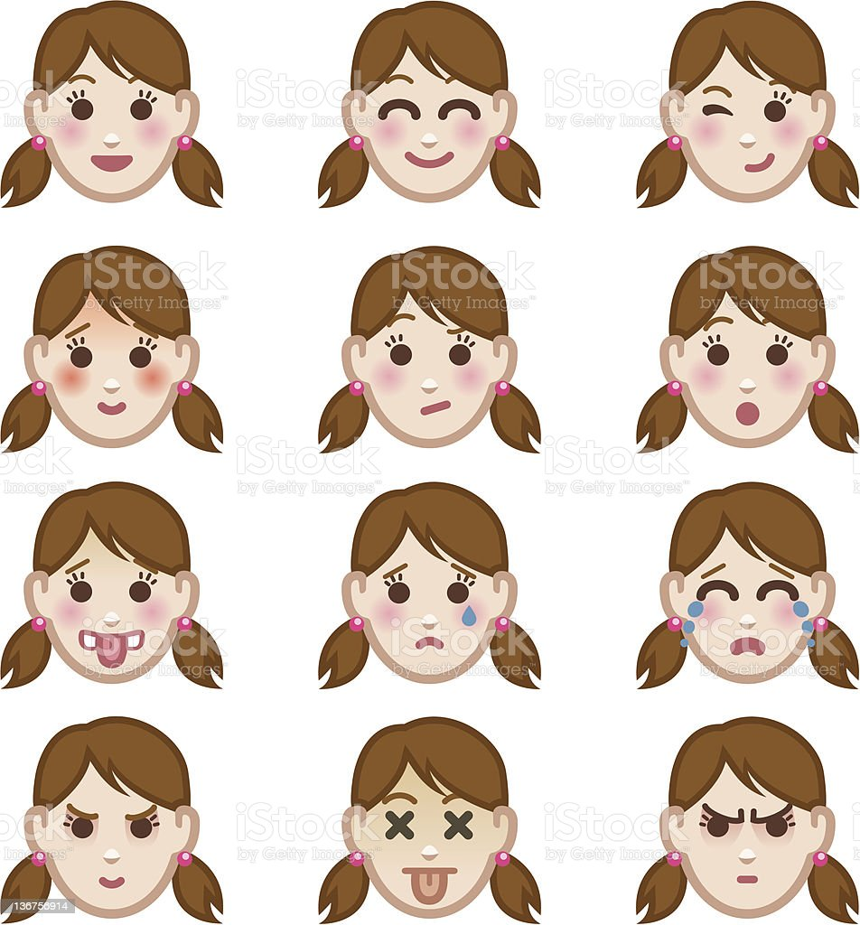 Emotions icon set royalty-free stock vector art