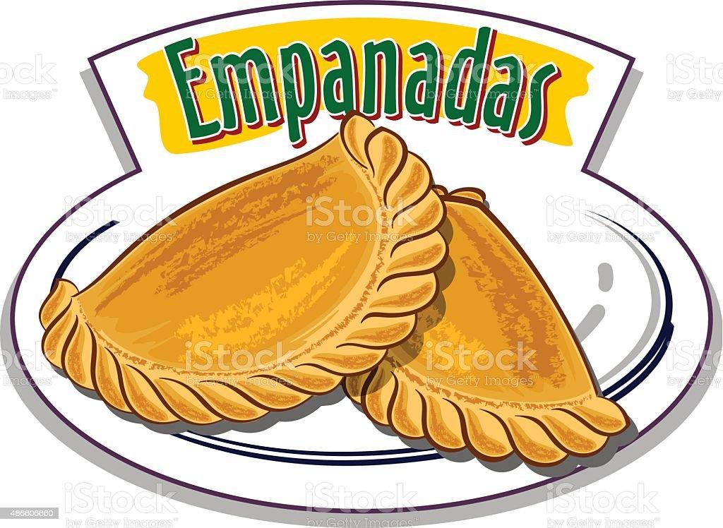 Empanadas vector vector art illustration