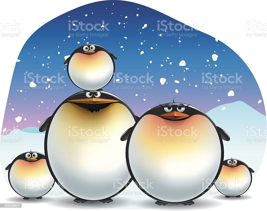 Emperor Penguin royalty-free stock vector art
