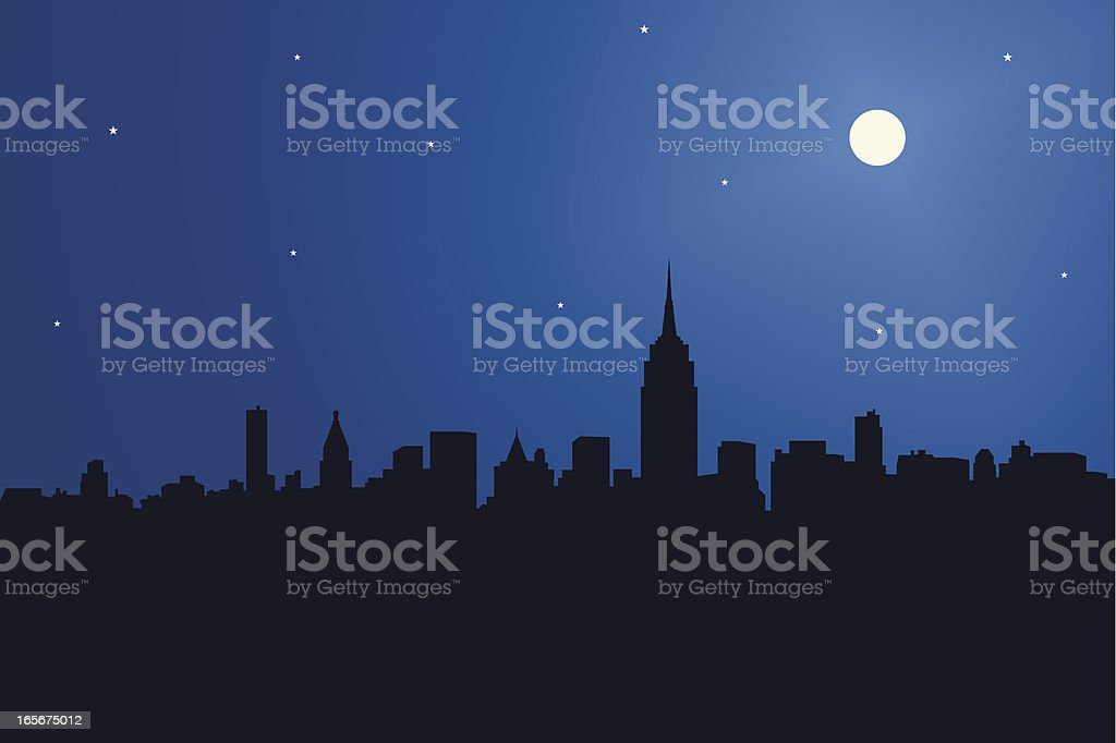 Empire State Building & Skyline royalty-free stock vector art