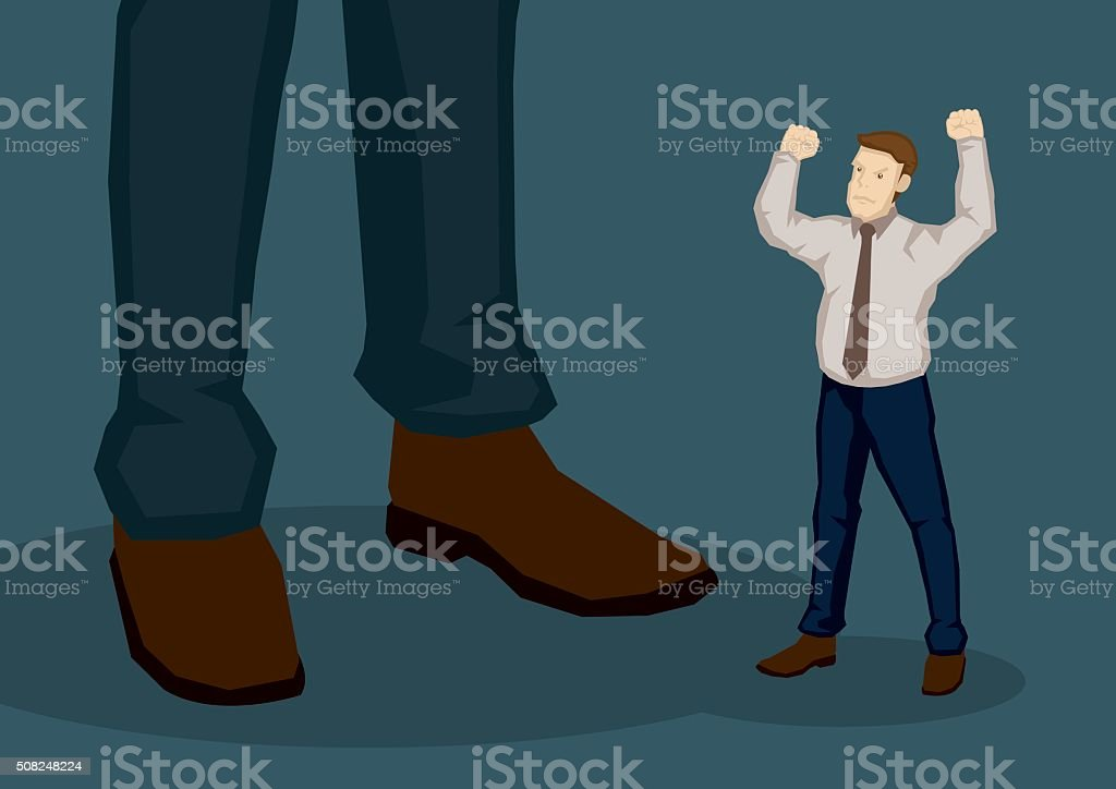 Employee Angry with Higher Management Vector Cartoon Illustratio vector art illustration