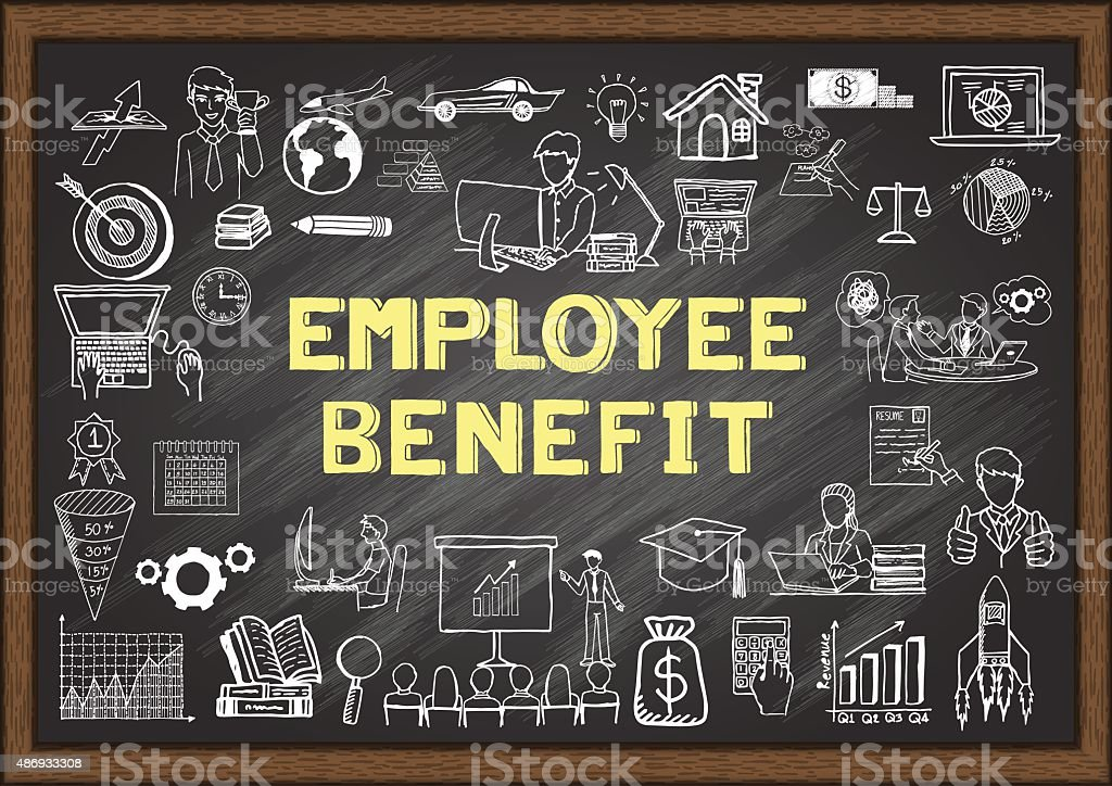 employee benefit vector art illustration