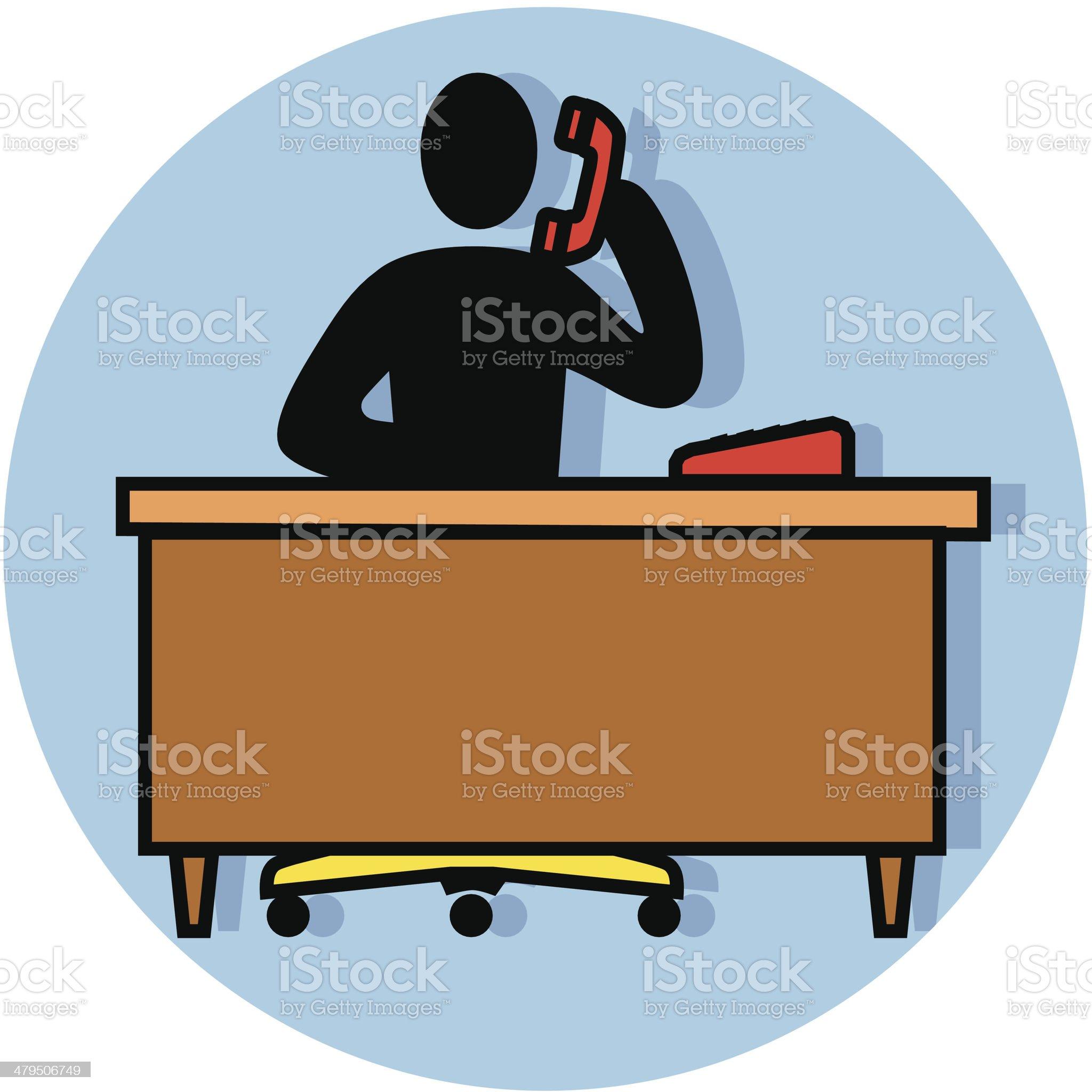 employee phone call icon royalty-free stock vector art