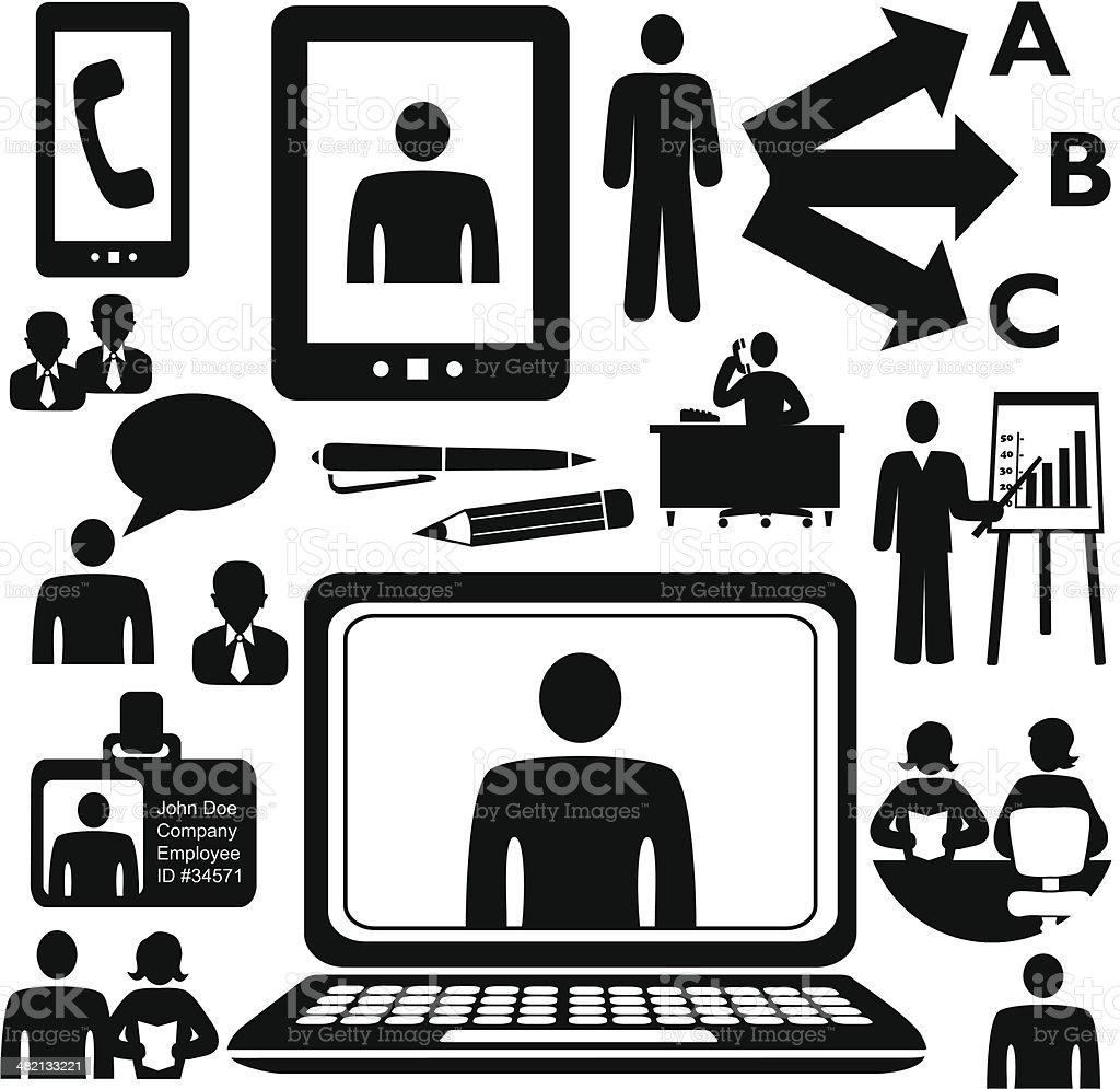 employees and customer service representatives royalty-free stock vector art
