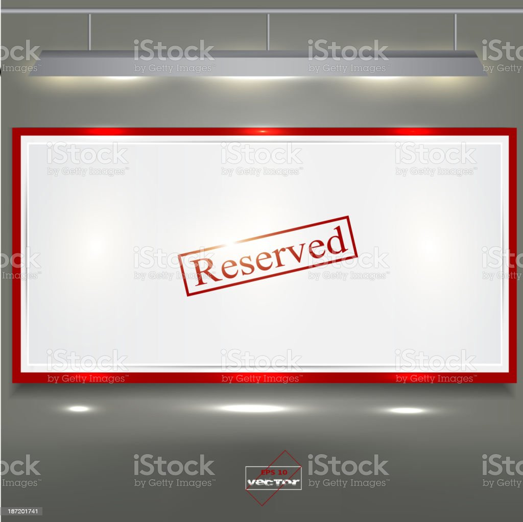 Empty banner for product advertising with lighting royalty-free stock vector art