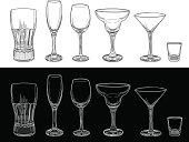 Empty Barware Glass Set