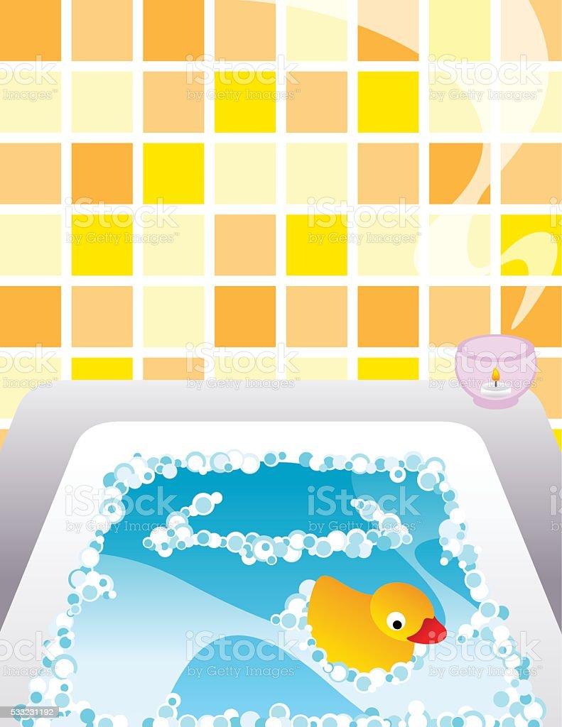 Empty Bath tub vector art illustration