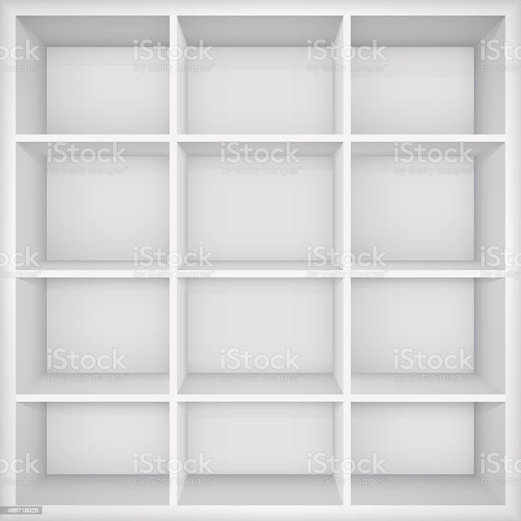 Empty bookshelf.  Vector Illustration vector art illustration