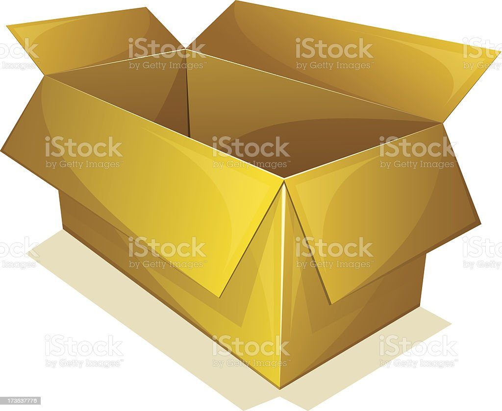 Empty box royalty-free stock vector art