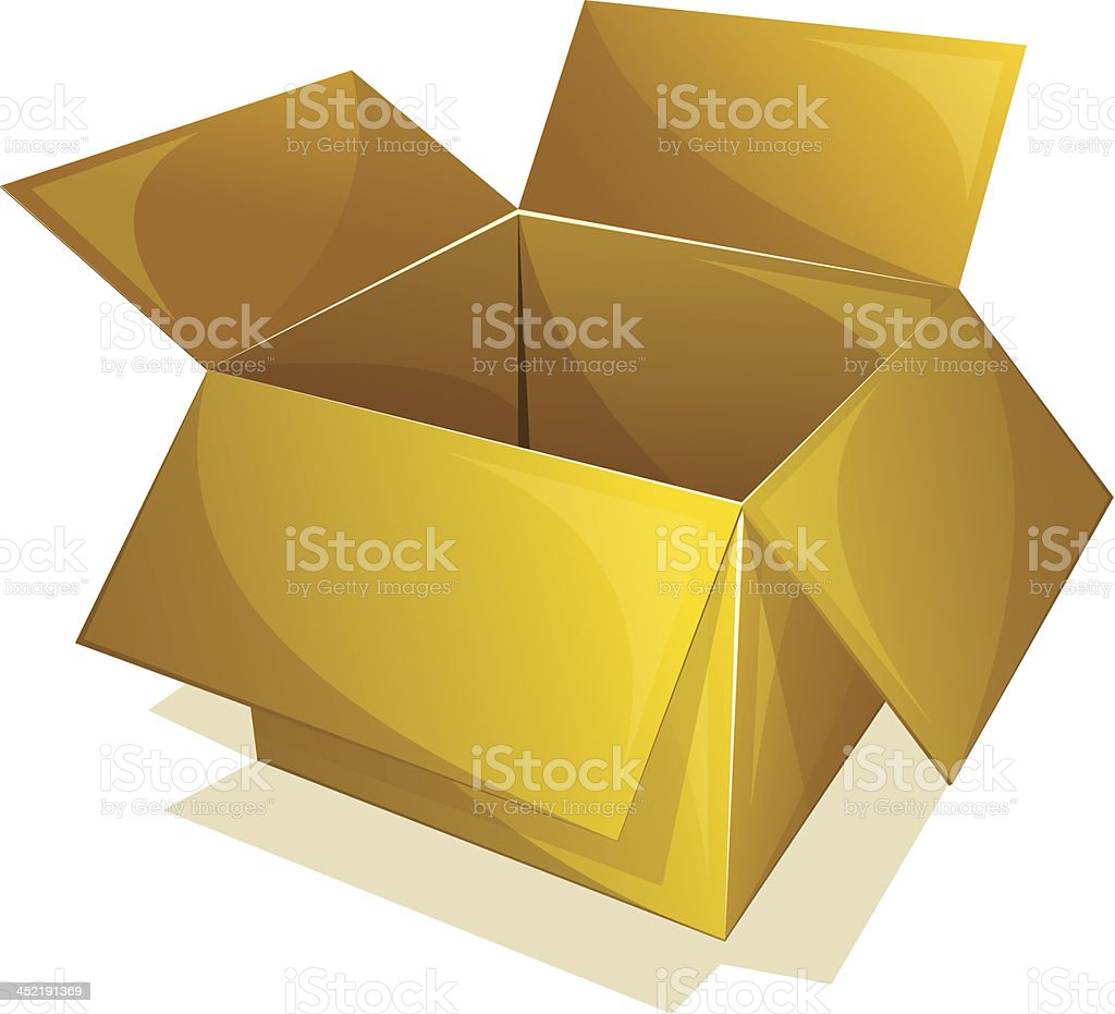 Empty box royalty-free stock vector art