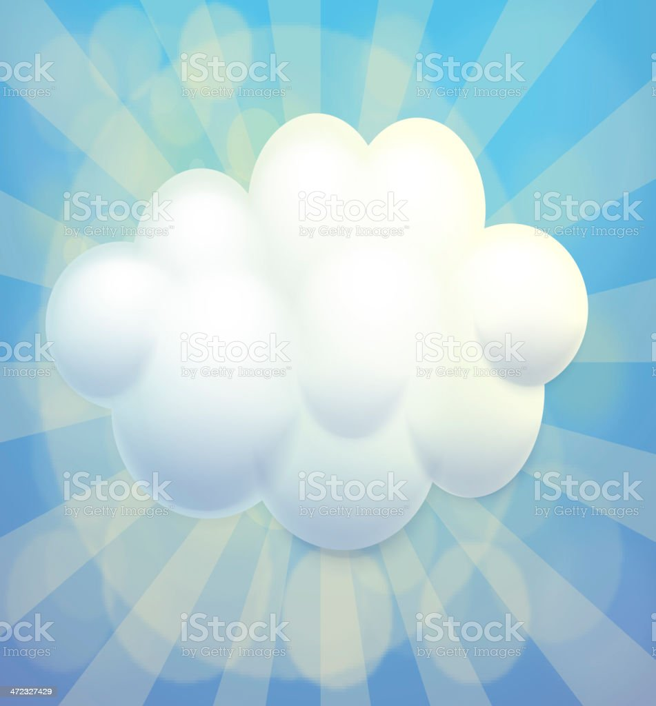 empty bubble note royalty-free stock vector art