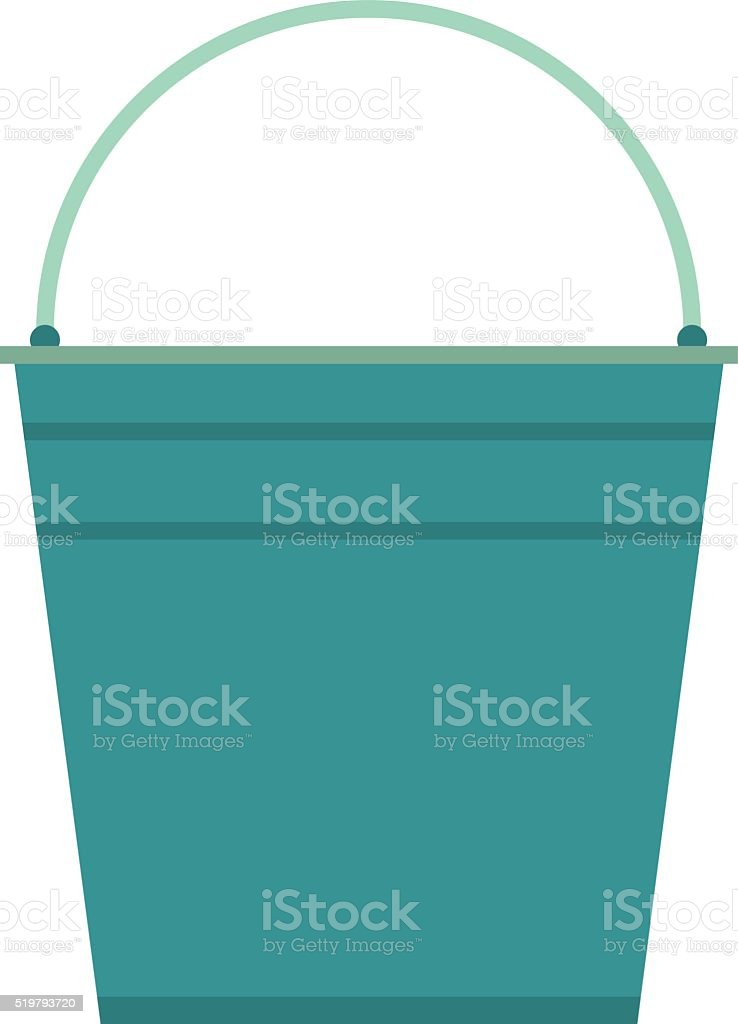 Empty bucket vector illustration icon vector art illustration