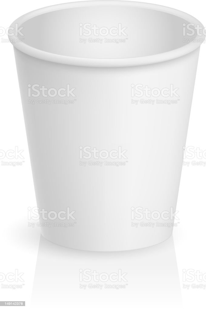 Empty cardboard cup vector art illustration