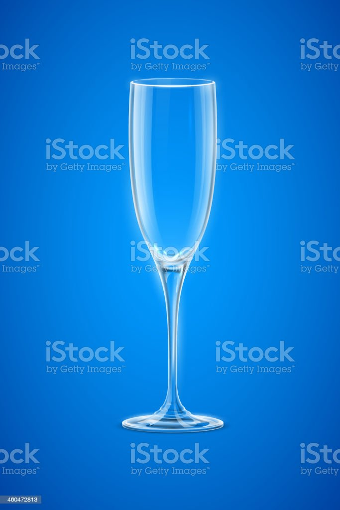Empty Champagne Glass royalty-free stock vector art