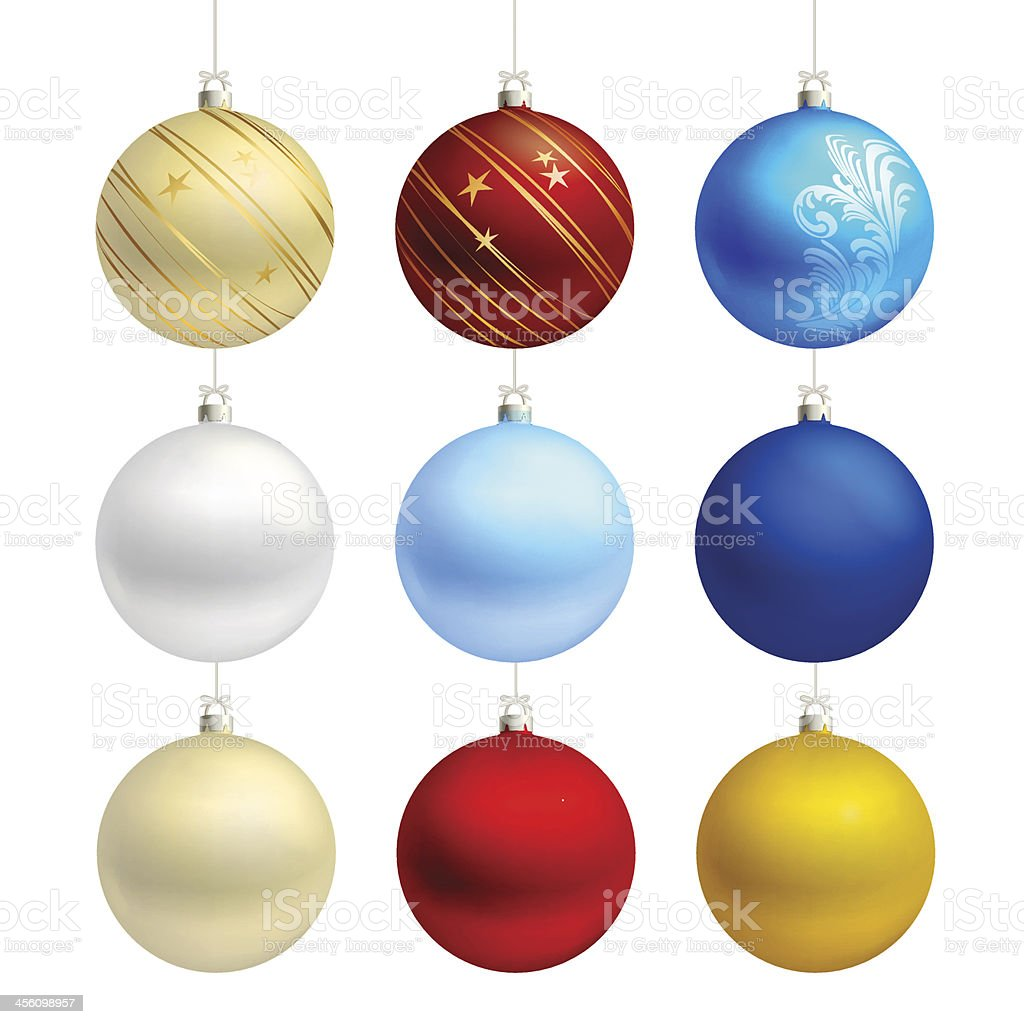 empty christmas bauble templates vector vector art illustration