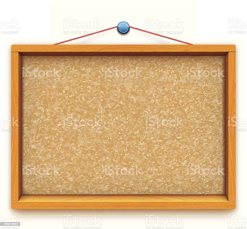 empty cork blackboard vector art illustration