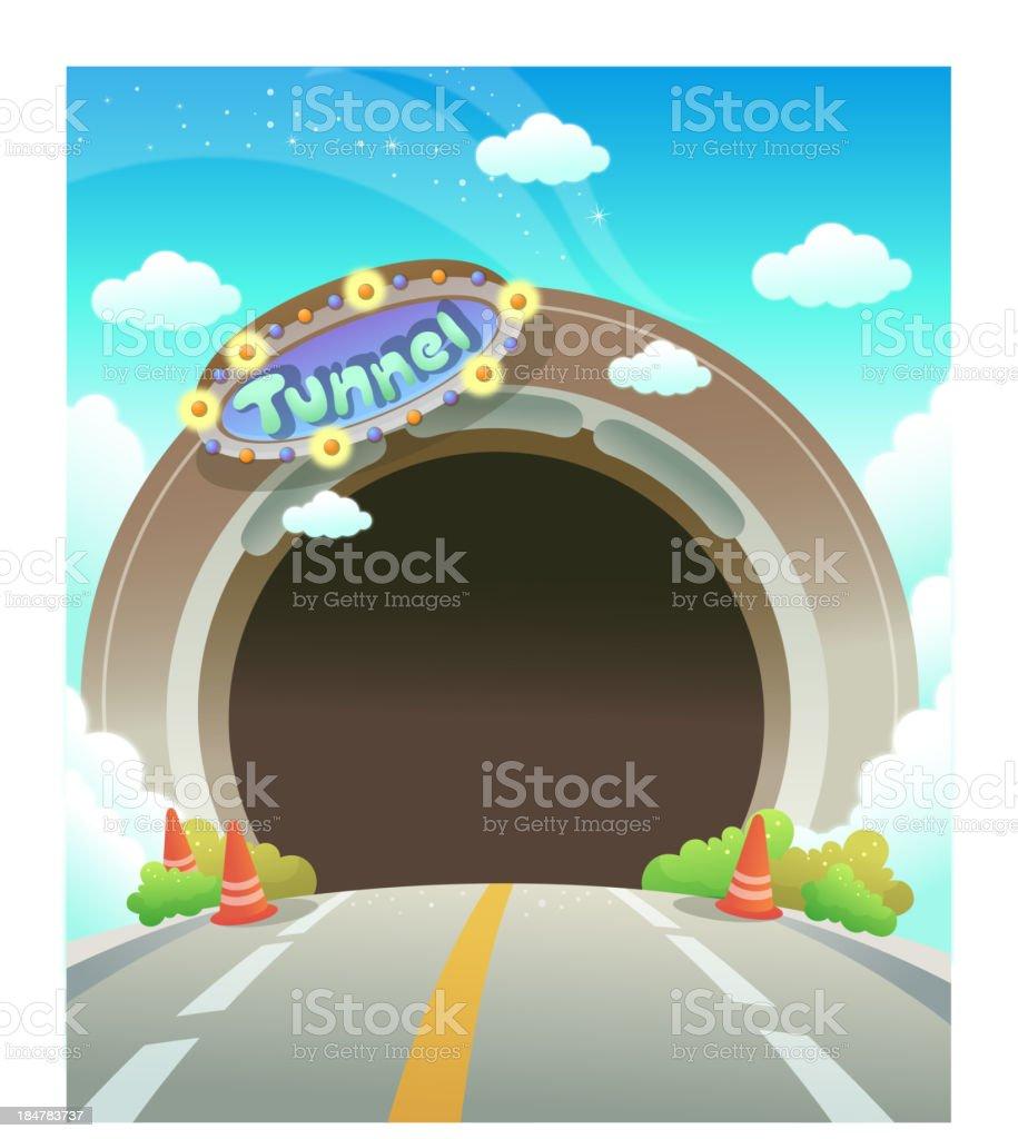 Empty decorative tunnel royalty-free stock vector art