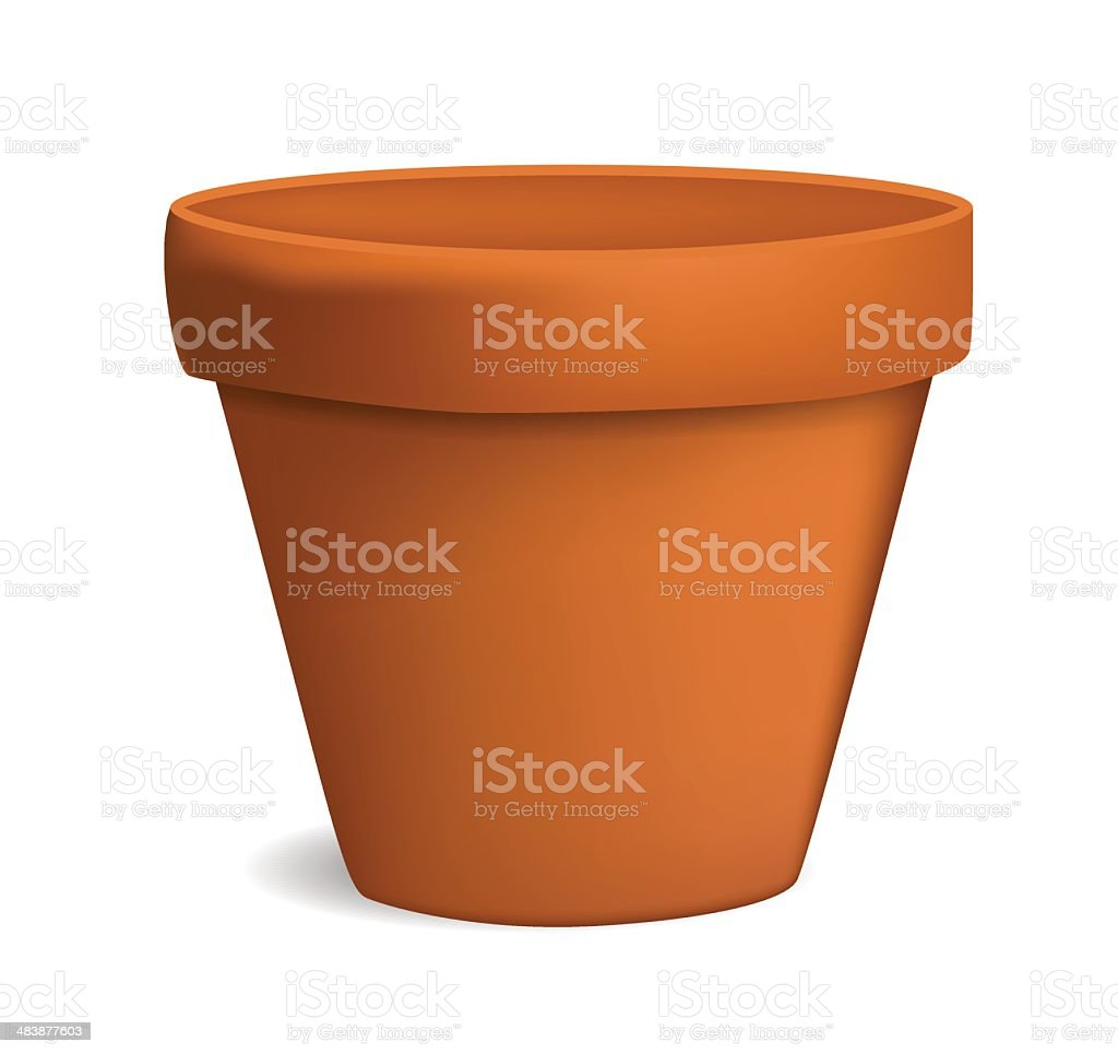 empty flowerpot vector illustration vector art illustration