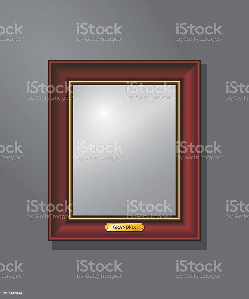 Empty, frame on the wall vector art illustration