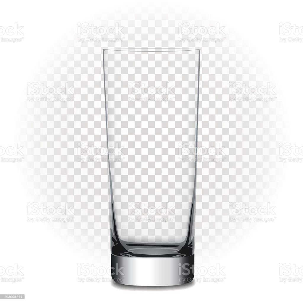 Empty glass, vector illustration with transparency vector art illustration