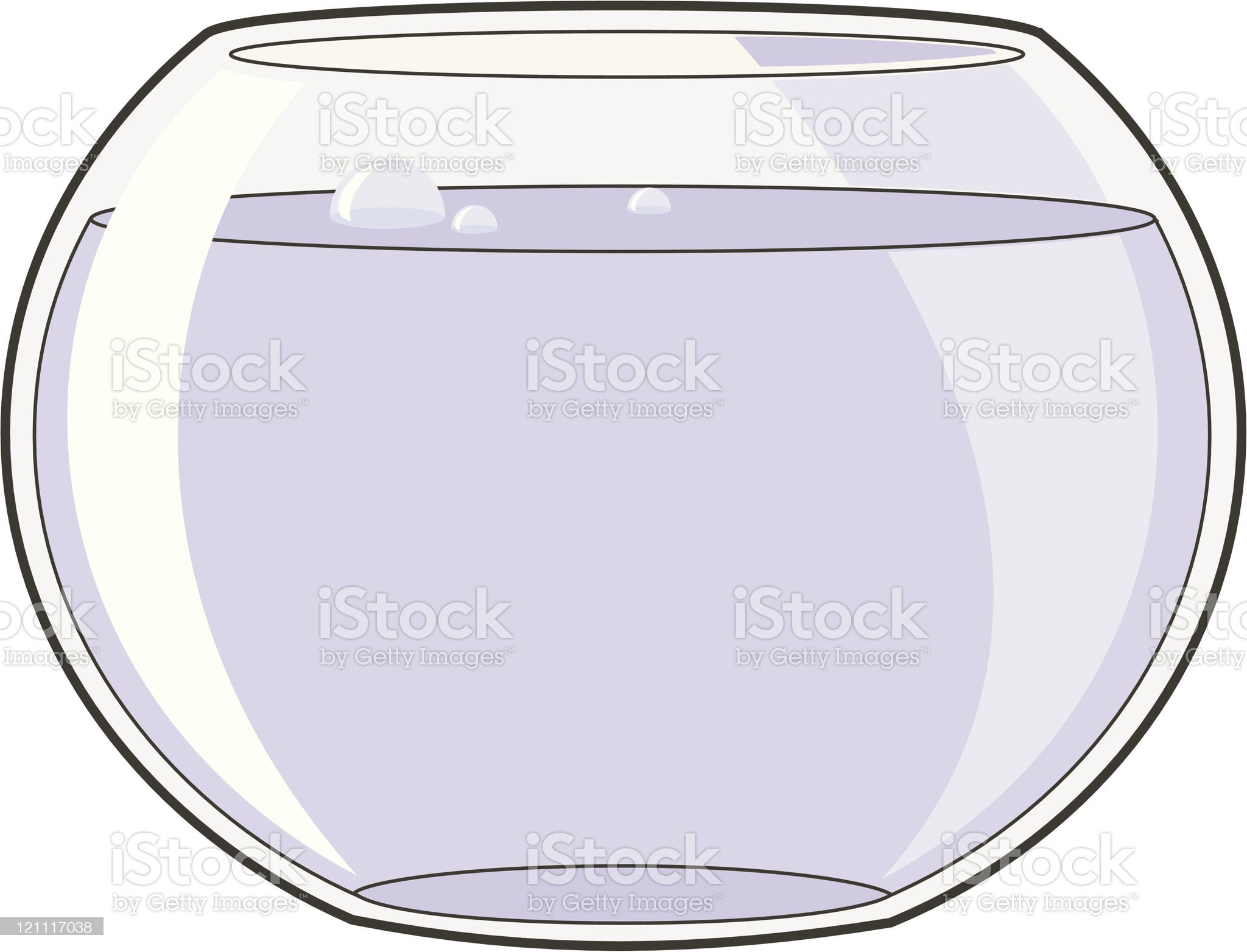 Empty Goldfish Bowl royalty-free stock vector art