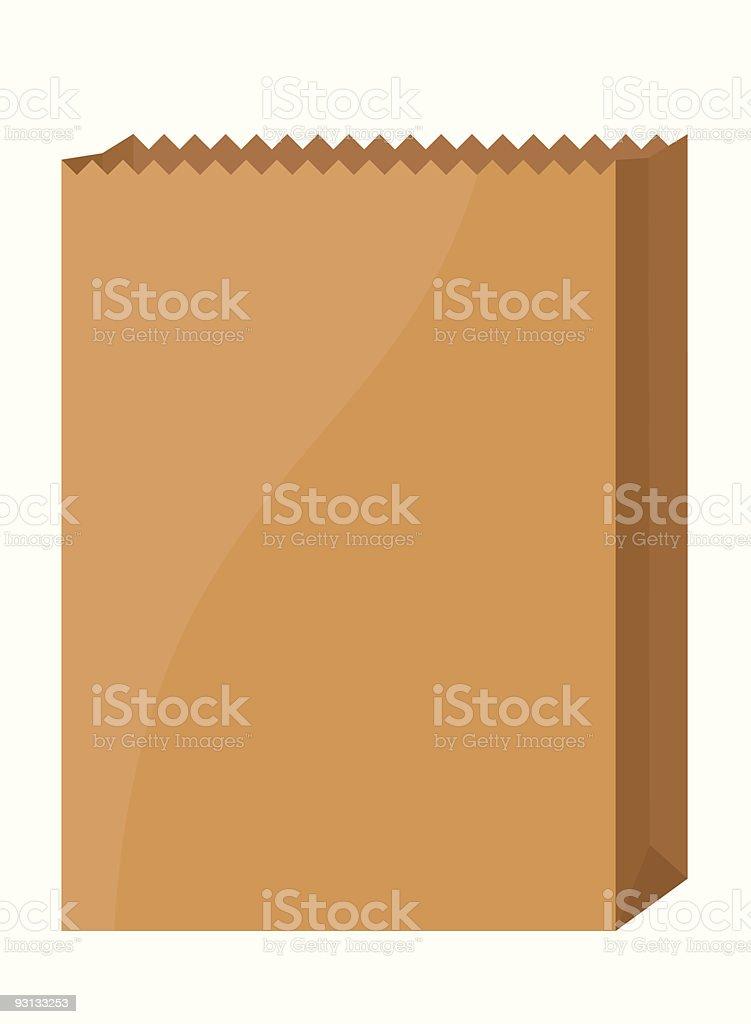 Empty Grocery Bag vector art illustration
