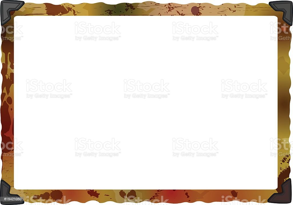 empty grungy photo frame with photo corners vector art illustration