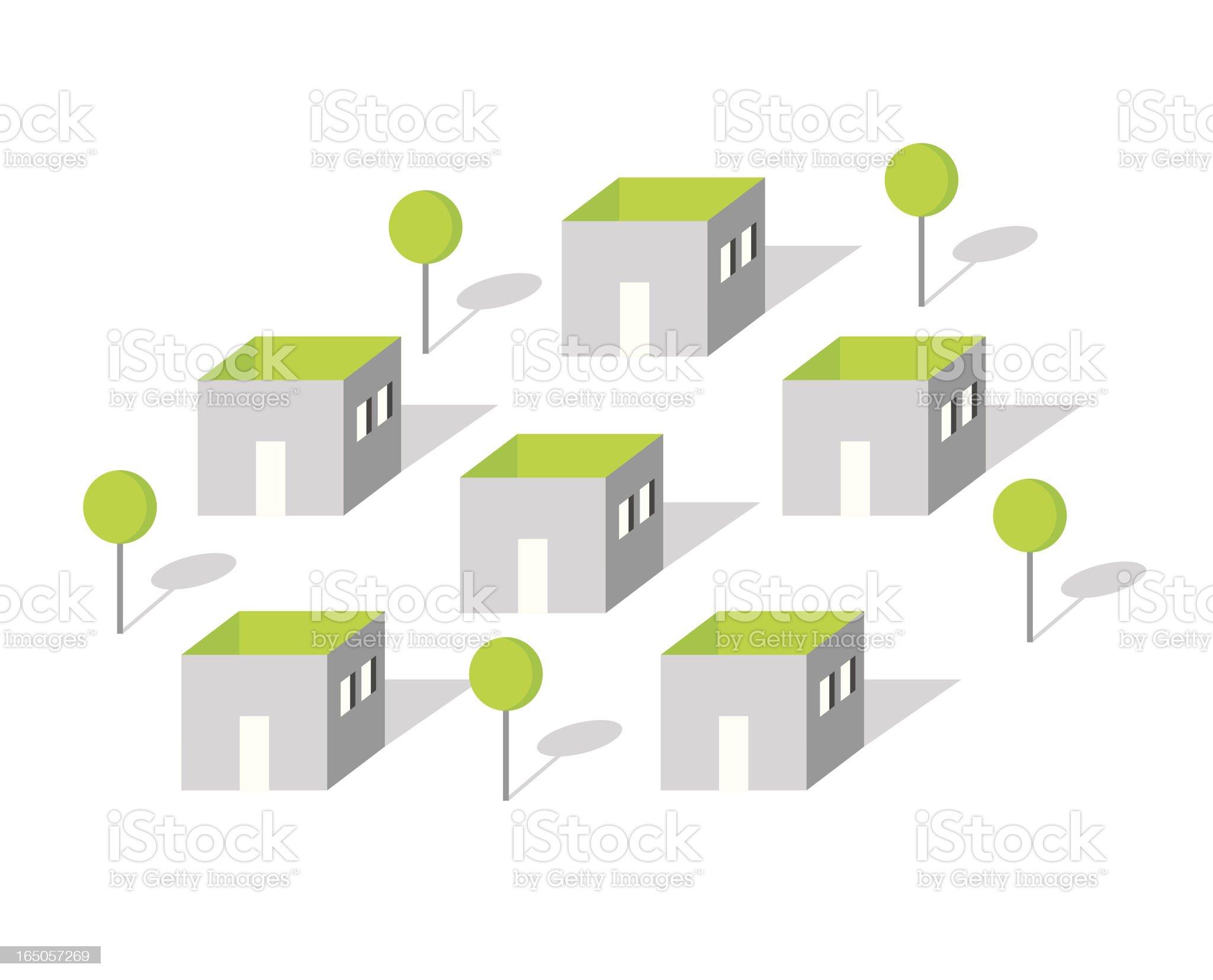 Empty home royalty-free stock vector art