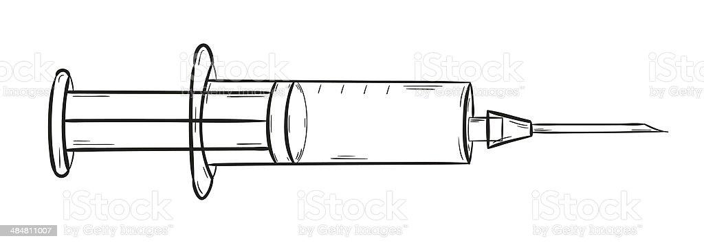 empty injection vector art illustration