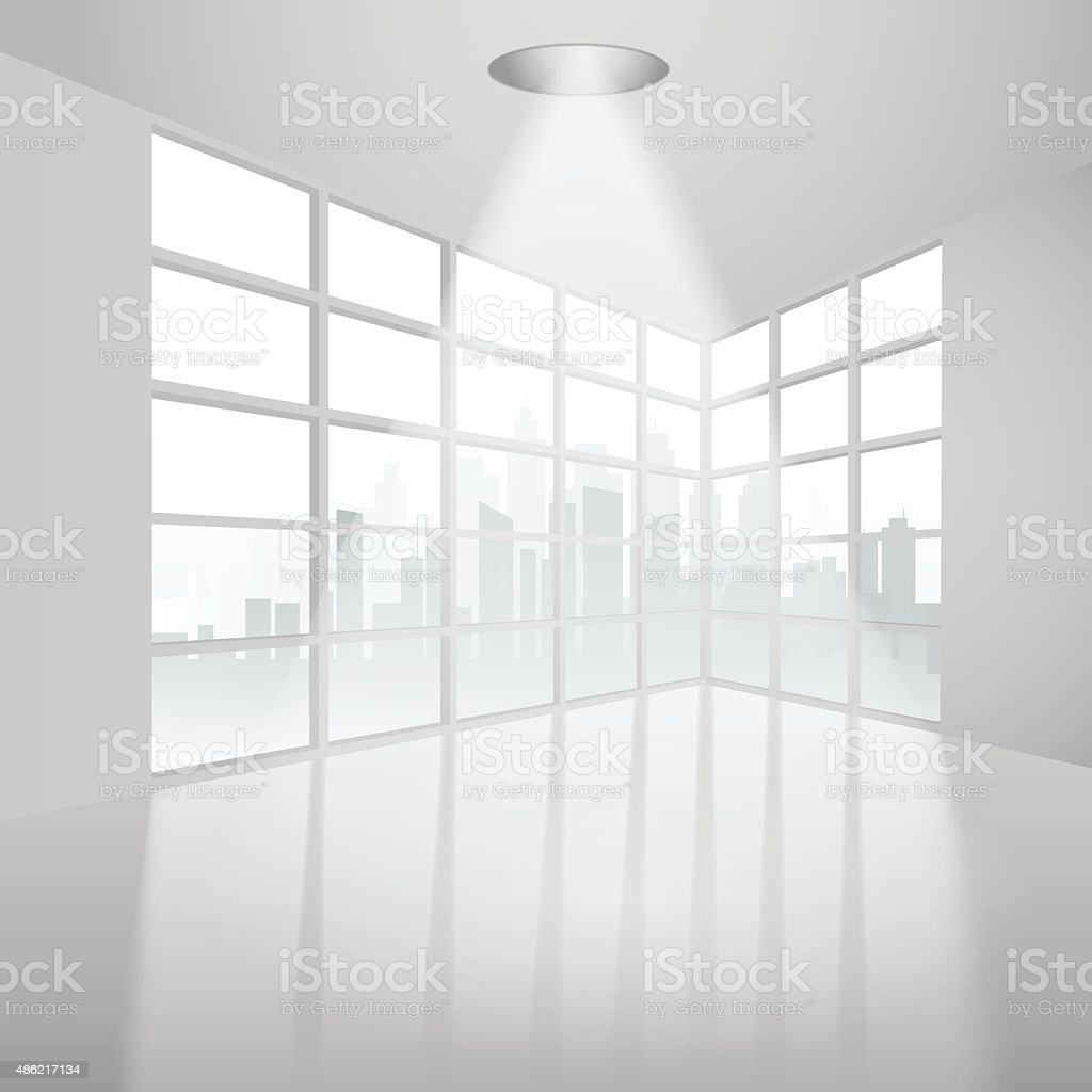 Empty interior vector art illustration