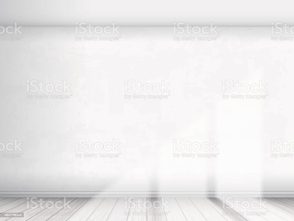 Empty interior with white wall vector art illustration