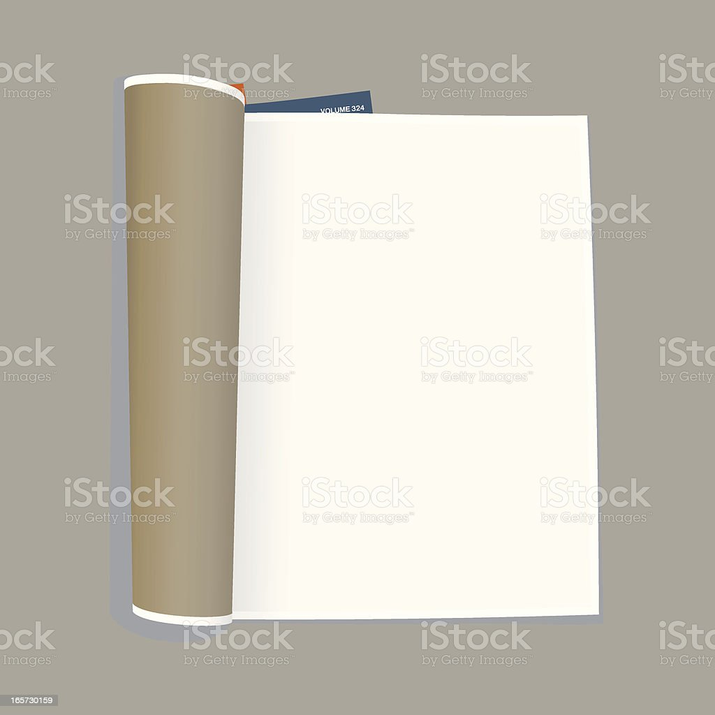 empty magazine template vector art illustration