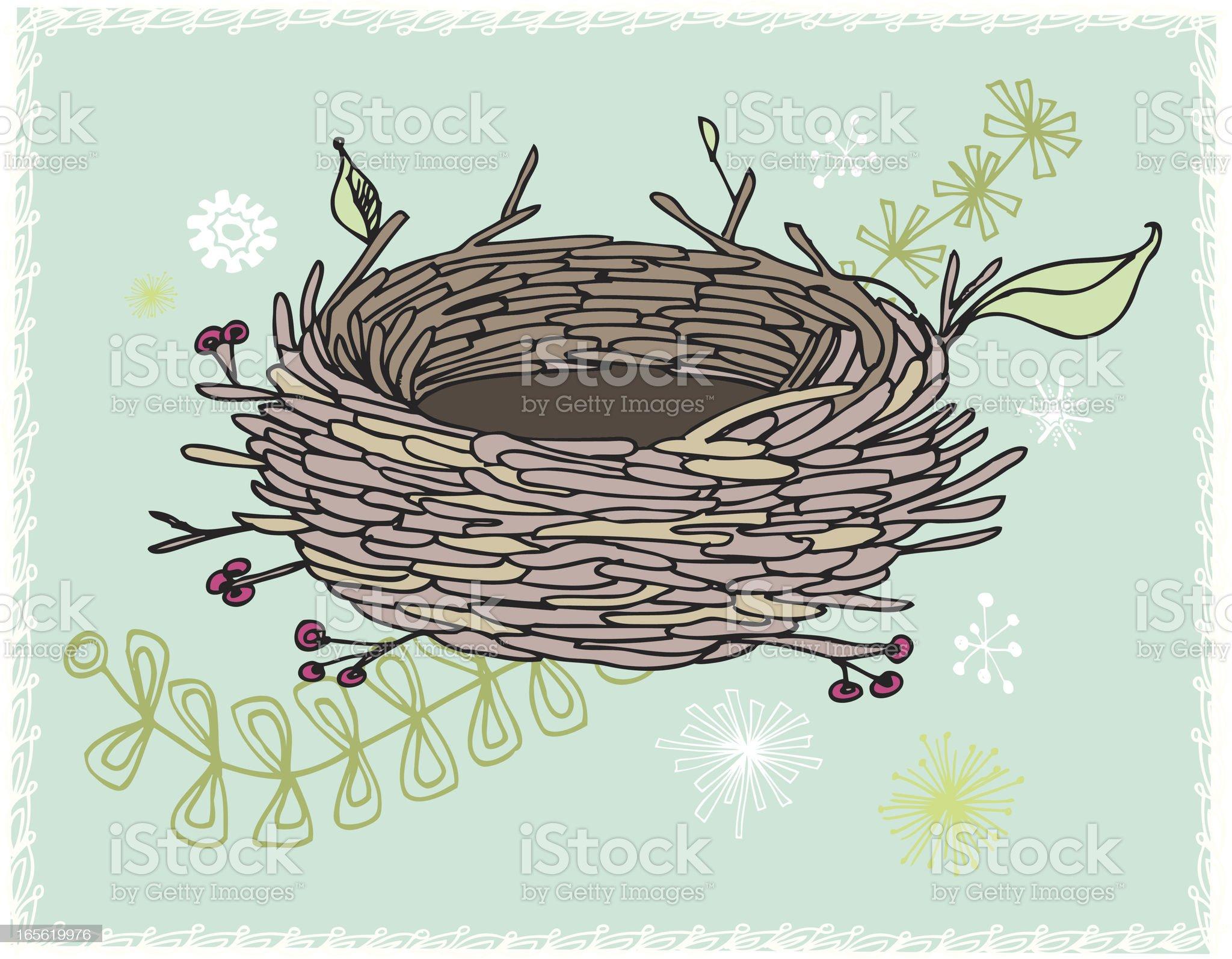Empty Nest royalty-free stock vector art