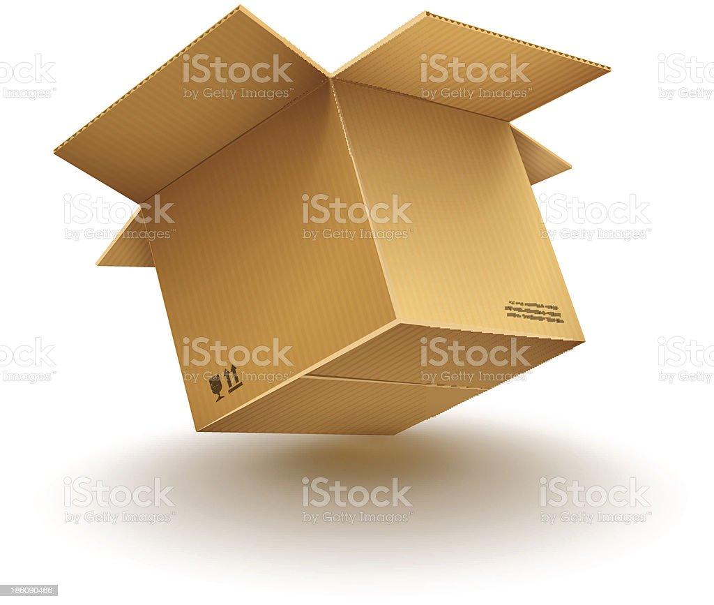 empty opened cardboard box royalty-free stock vector art