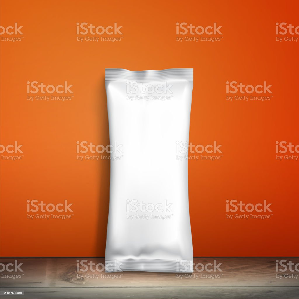 Empty packaging design for ice cream or other snacks vector art illustration