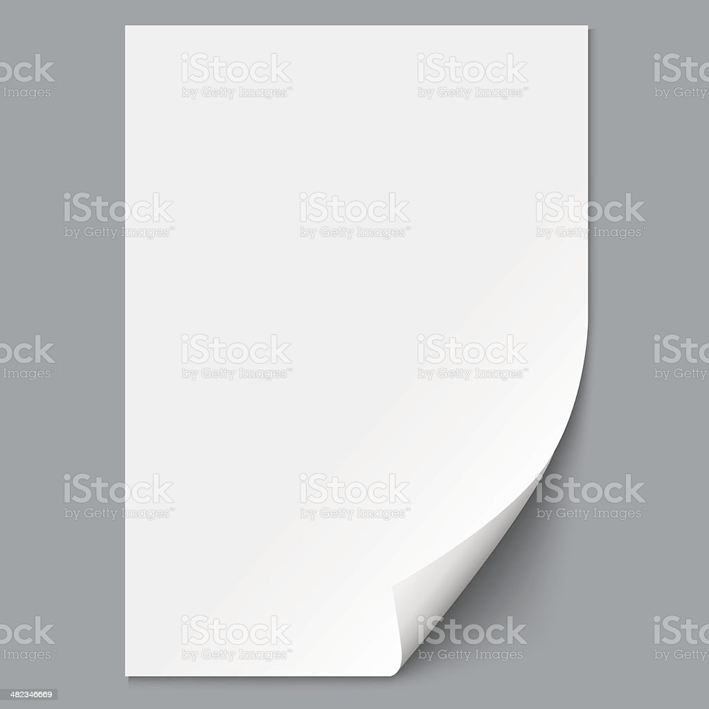 Empty paper sheet vector art illustration