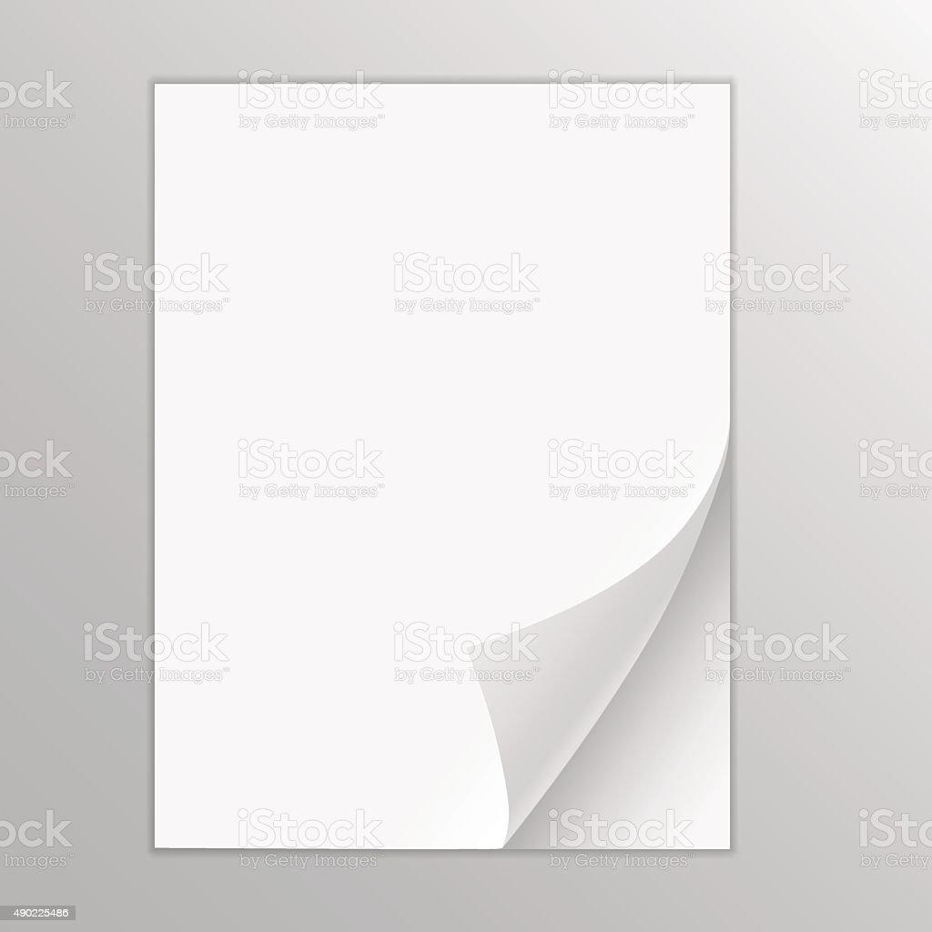 Empty paper sheet vector art illustration