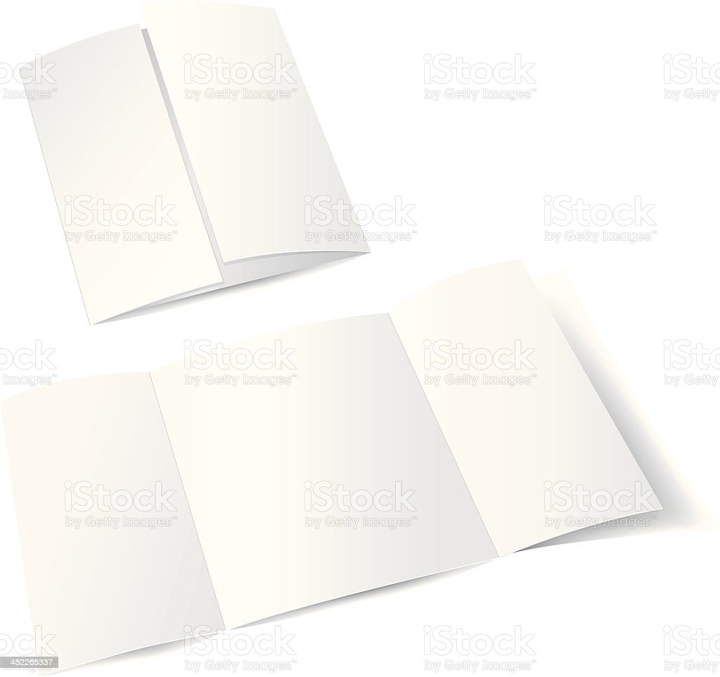 Empty paper royalty-free stock vector art